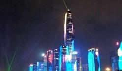 2019年深圳市灯光秀,从2019年9月20日开始至10月15日,每天晚上举行三场灯光表演