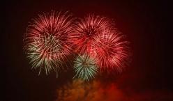 2019年10月1日(星期二)20时至20时25分广州珠江河段举行国庆焰火晚会