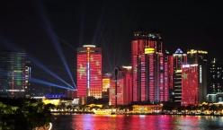 2019广州海珠广场国庆灯光秀与你相约,9月28日-10月7日 每晚8点